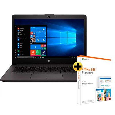"""Notebook 240-G7 6YH01LA Processador i5 (8 ger.) 1.6ghz, 8GB de Memória, 1TB de Armazenamento, Tela de 14"""", Windows 10 Pro - HP + Office 365 Personal Assinatura Anual AOMI0056 Microsoft CX 1 UN"""