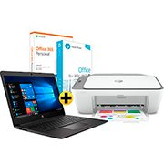 Notebook 246-G7 i5 (8 ger.) 1.6ghz 8gb 256gb SSD 9MW01LA HP + Deskjet Ink Advantage 2776 HP + Papel sulfite HP Office A4 Ipaper PT 500 FL + Office 365 Personal Microsoft CX 1 UN