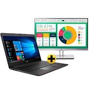 """Notebook 3L989LA 246-G7 Processador i5 (8) 1.6ghz, 4GB de Memória, 1TB+16GB de Armazenamento, Tela de 14"""" - HP + Monitor LED 21,5"""" Widescreen Full HD EliteDisplay E223 1FH45A8 HP CX 1 UN"""