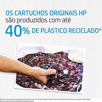 Cartucho HP 664 colorido F6V28AB + Cartucho HP 664 preto F6V29AB HP CX 1 UN