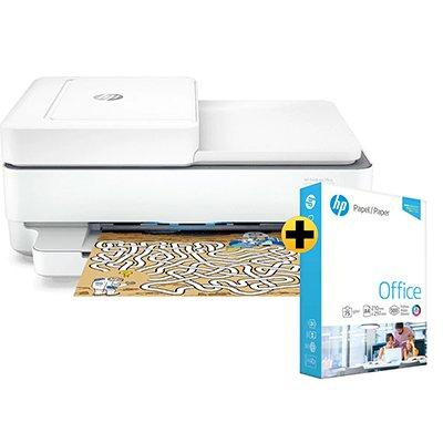 Impressora Multifuncional  Deskjet Ink Advantage 6476 5SD79A HP + Papel sulfite HP Office A4 Ipaper com 500 folhas CX 1 UN
