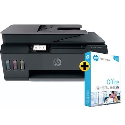 Impressora Multifuncional tanque de tinta Smart Tank 617 Y0F72A HP + Papel sulfite HP Office A4 Ipaper com 500 folhas CX 1 UN