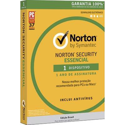 Norton Antivírus Security Essencial 1 dispositivo, Licença 12 meses, NortonLifeLock - CX 1 UN