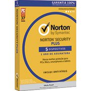 Norton Antivírus Plus 5 dispositivos, Licença 12 meses, NortonLifeLock - CX 1 UN