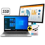 Notebook 250-G8 i7 16gb 256gb SSD 15W10 3G5A6LA HP + Monitor LED 23,6 widescreen V24b 2XM34AA HP + Cabo HDMI 2.0 High Speed c/1.5m 38846 HP001SBBLK HP CX 1 UN