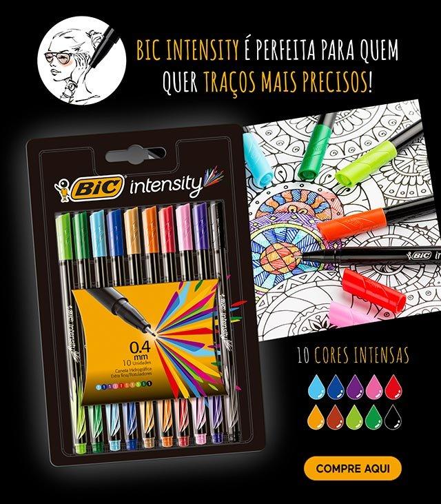 Bic Intensity é perfeita para quem quer traços mais precisos!