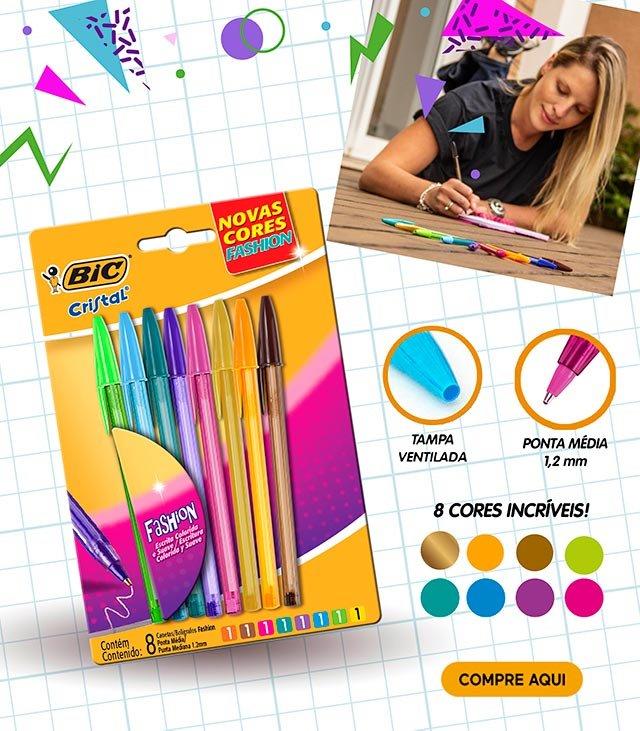 Bic Cristal - 8 cores incríveis!