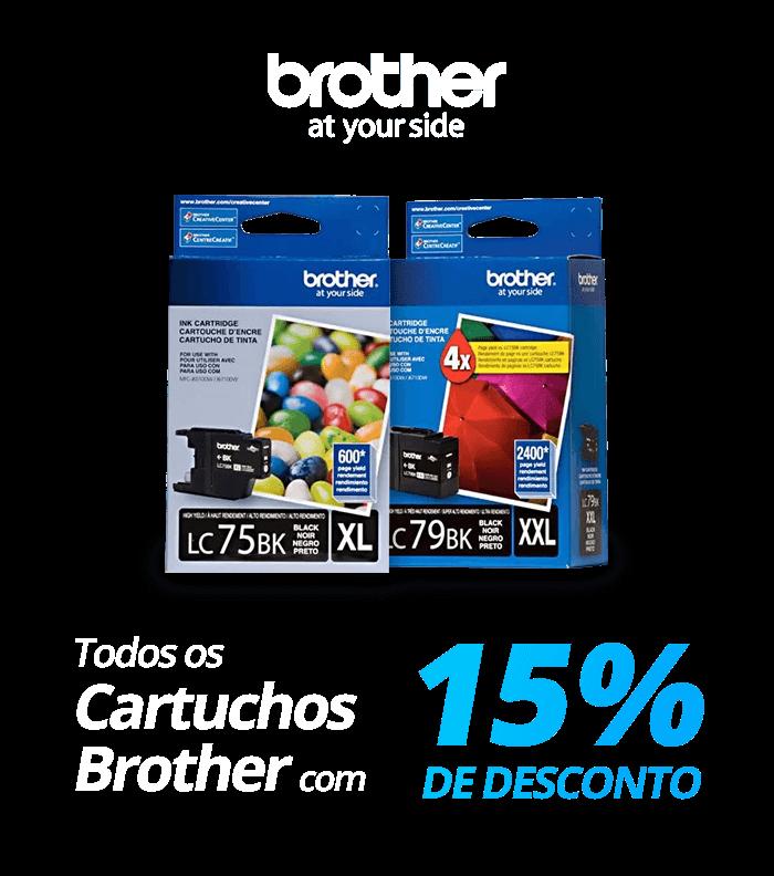 Todos os cartuchos Brother com 15% de desconto!