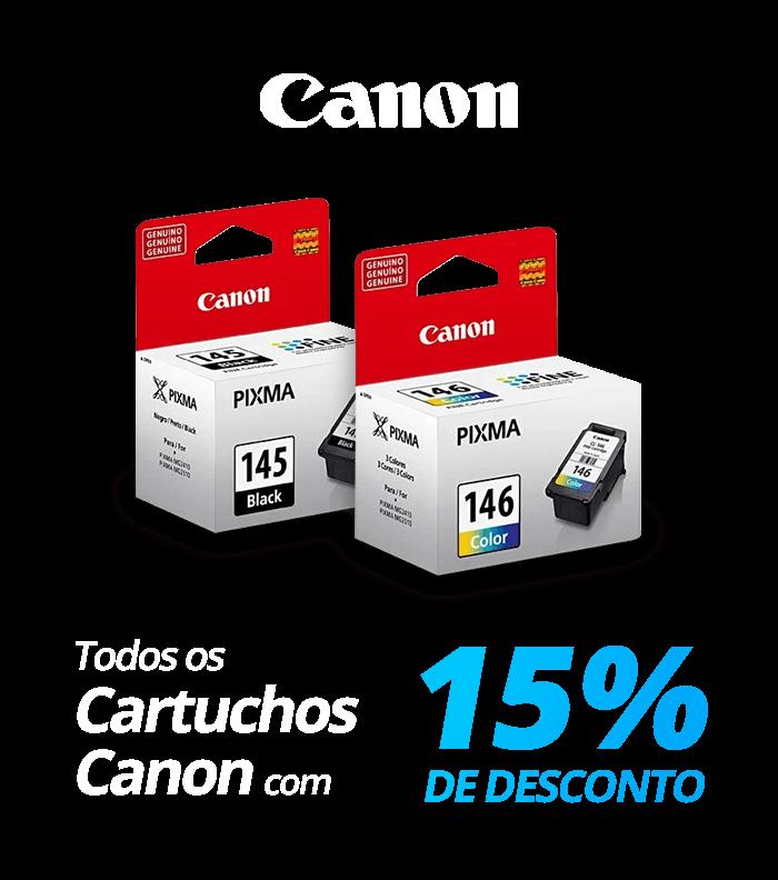Todos os cartuchos Canon com 15% de desconto!