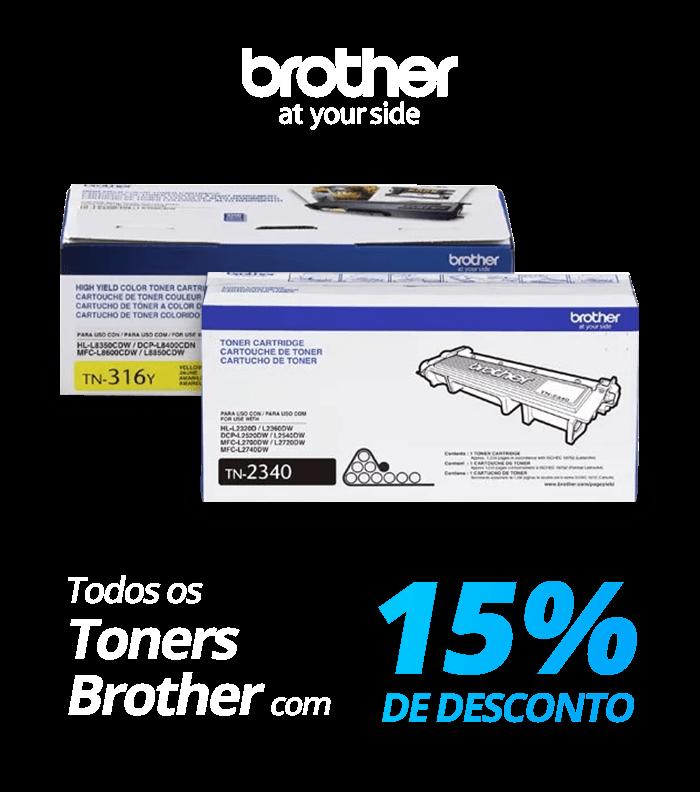 Todos os toners Brother com 15% de desconto!