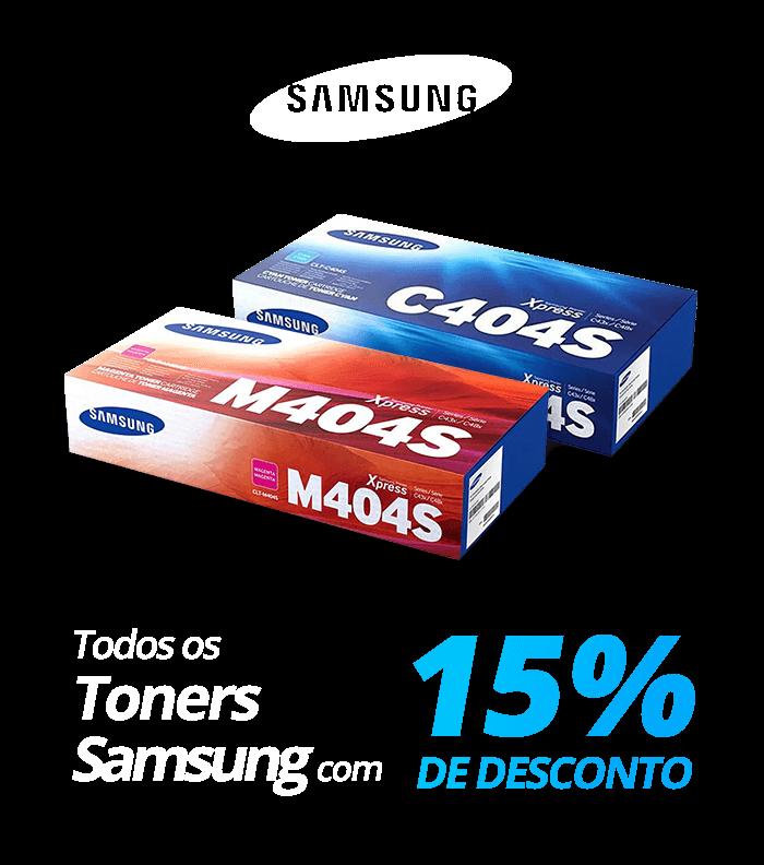 Todos os toners Samsung com 15% de desconto!