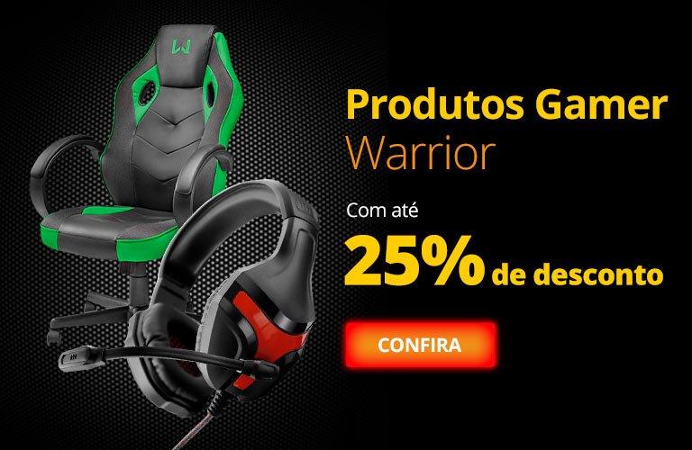 Produtos Gamer Warrior com até 25% de desconto