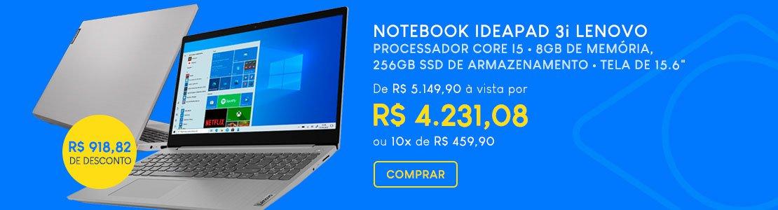 Notebook ideapad 3i Lenovo